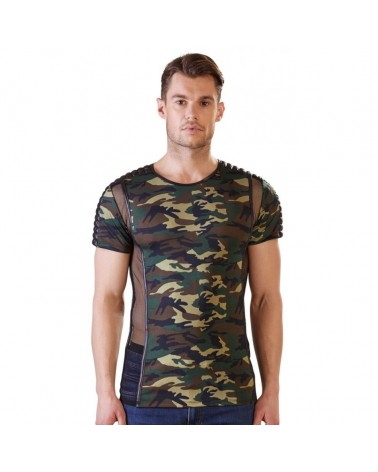 Tee Shirt Camouflage et Tulle - M